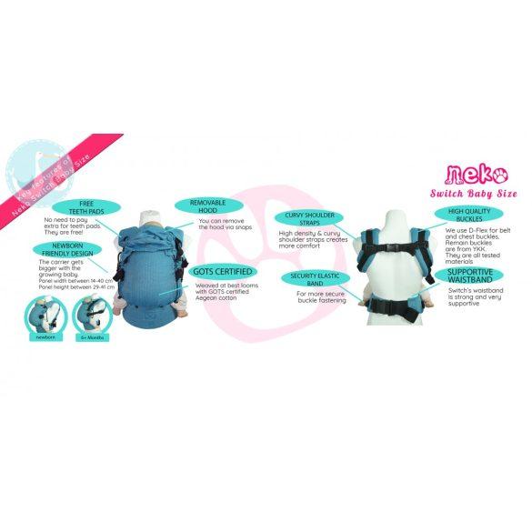 NEKO SWITCH Csatos hordozó (állítható) - baby size - BOLD