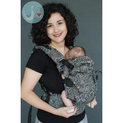 NEKO SWITCH Csatos hordozó (állítható) - baby size - EFES PAISLEY HAZEL DARK