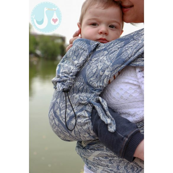 NEKO Félcsatos - Baby Size - Unique Ayaz Silver Glitter