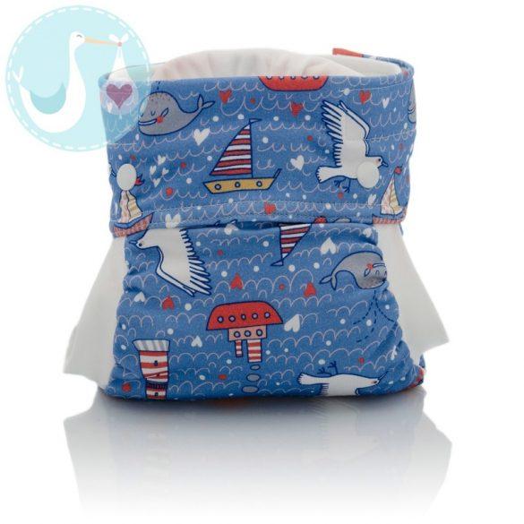 Culla di Teby Biopamut mosható pelenka külső - I LOVE SEA -M