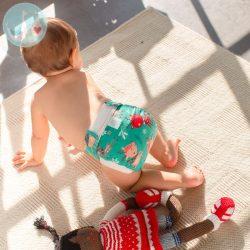 Culla di Teby Biopamut mosható pelenka külső - SNOW FLAKES-XL